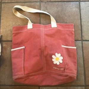 Life Is Good Daisy Canvas Tote